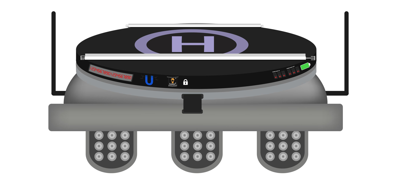 Uriel Wireless Drone Charging System-Round Version w/Lighting